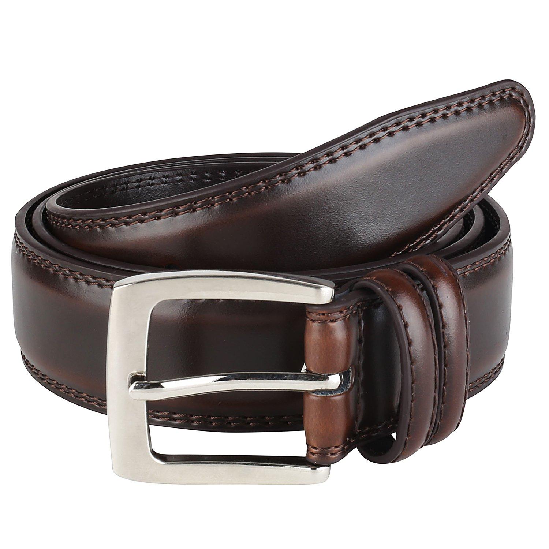 Men's Dress Belt ALL Genuine Leather''1.35 Size Cognac 38