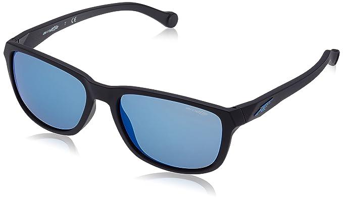 Arnette Straight Cut gafas de sol, Matte Black, 58 para Hombre