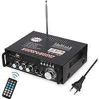 docooler 12 V/220V Mini Amplificador Audio Bluetooth,HiFi Audio Estéreo Amplificador 2CH Pantalla LCD de Alta fidelidad…