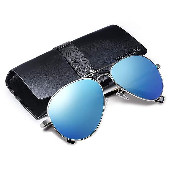 VEGOOS Hombres Aviador Gafas de Sol Polarizado Conducción Con el Caso UV 400 Protección 3025MSBV