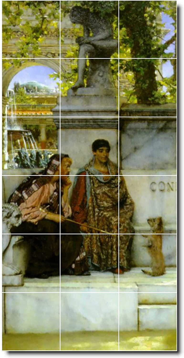 Ceramic Tile Mural Lawrence Alma Tadema Historical Painting 91 36 W X 72 H 18 12x12 Tiles