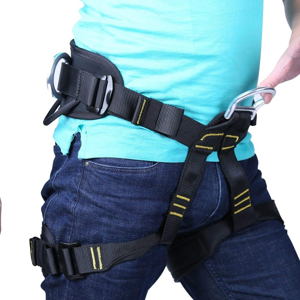 DaQingYuntur Outdoor Rock Climbing and Rappelling to Expand The Aerial Work Belt, Half-Length Cave Safety Belt, Easy to Wear, Protect The Waist and Legs by DaQingYuntur
