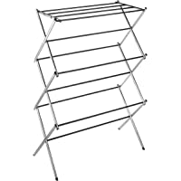 Deals on Whitmor 11-Bar Folding Clothes Top Shelf Chrome Drying Rack