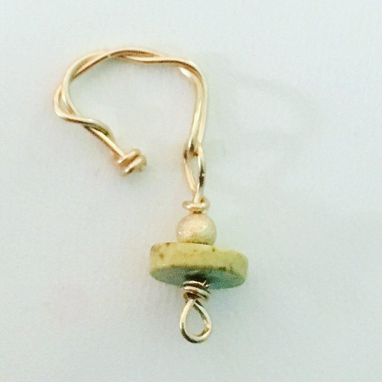 Amethyst Loc Jewel 14K Gold Filled Purple Dread Bead Schmuck Jewelry Charm Accessories