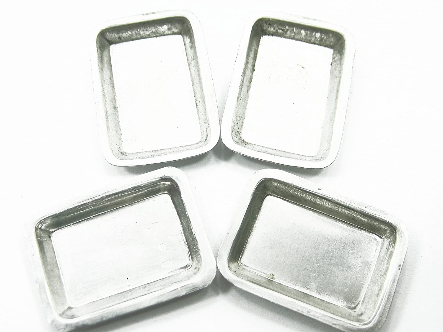10  Metallic Rectangle Plate Dollhouse Miniatures Supply Deco
