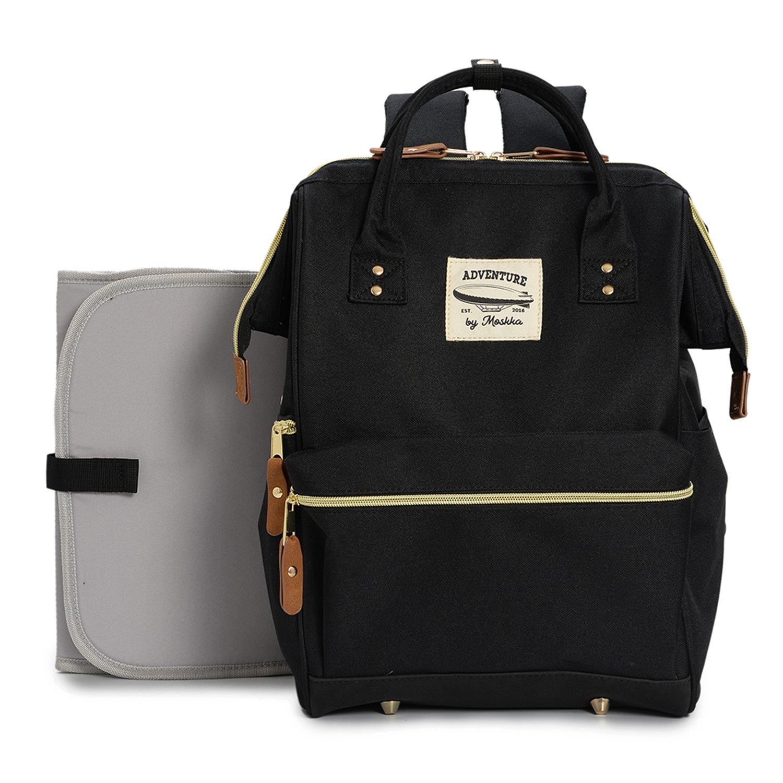 wide open designer baby diaper backpack by moskka travel bag nappy tote bag. Black Bedroom Furniture Sets. Home Design Ideas