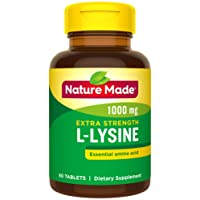 Deals on Nature Made Extra Strength L-Lysine 1000 mg Amino Acid 60-Ct