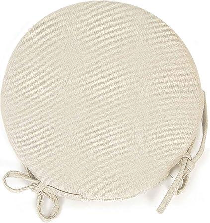 Cuscini Per Sedie Cucina Rotondi.Arketicom Set 4 Cuscini Per Sedia Cucina Rotondi Con Lacci Alette