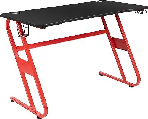 Cheap Flash Furniture Red Gaming Ergonomic Desk modern office desk for sale