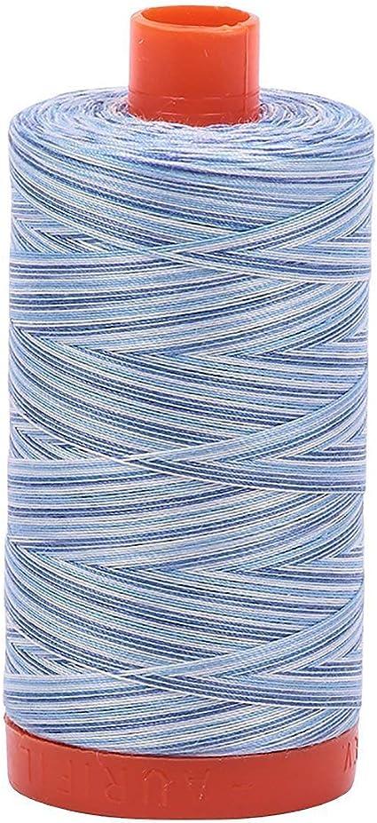 Variegated Silver Moon A1150-4060 Aurifil 50wt Mako Cotton Thread 1,422 yards