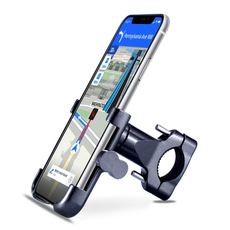 Homeet Soporte Movil Bici, Soporte Bicicleta Teléfono 360 Grados de Rotación Soporte Móvil Universal Antideslizante Soporte Manillar para Bicicleta ...