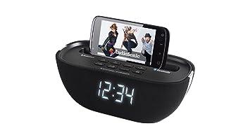 AudioSonic CL-1462 - Radio despertador Bluetooth, color negro