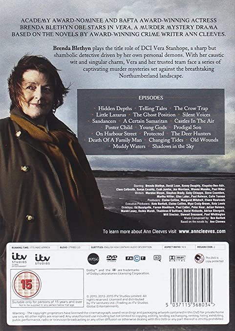 Amazoncom Vera Complete Series 1 5 Dvd 2015 Brenda Blethyn