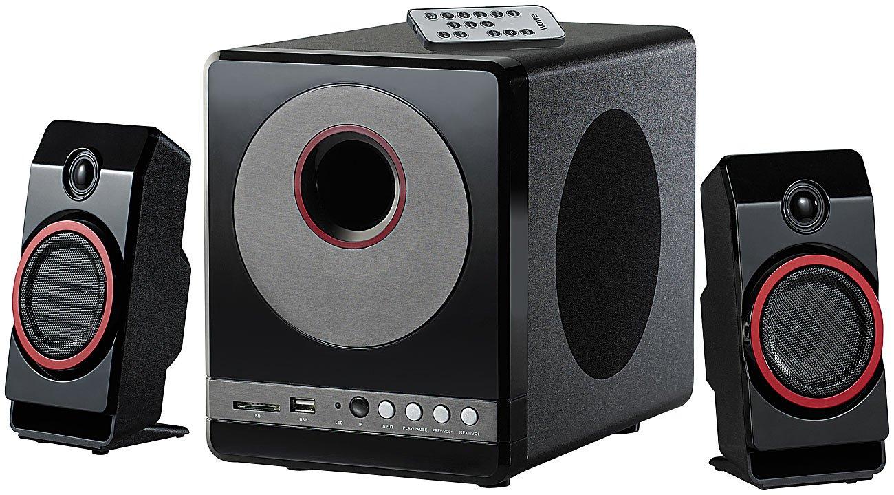 Auvisio haut-parleurs Premium–équipement D'enceintes (USB, commande à distance, indicateurs LED), noir commande à distance Auvisio Spain MSX-380.M