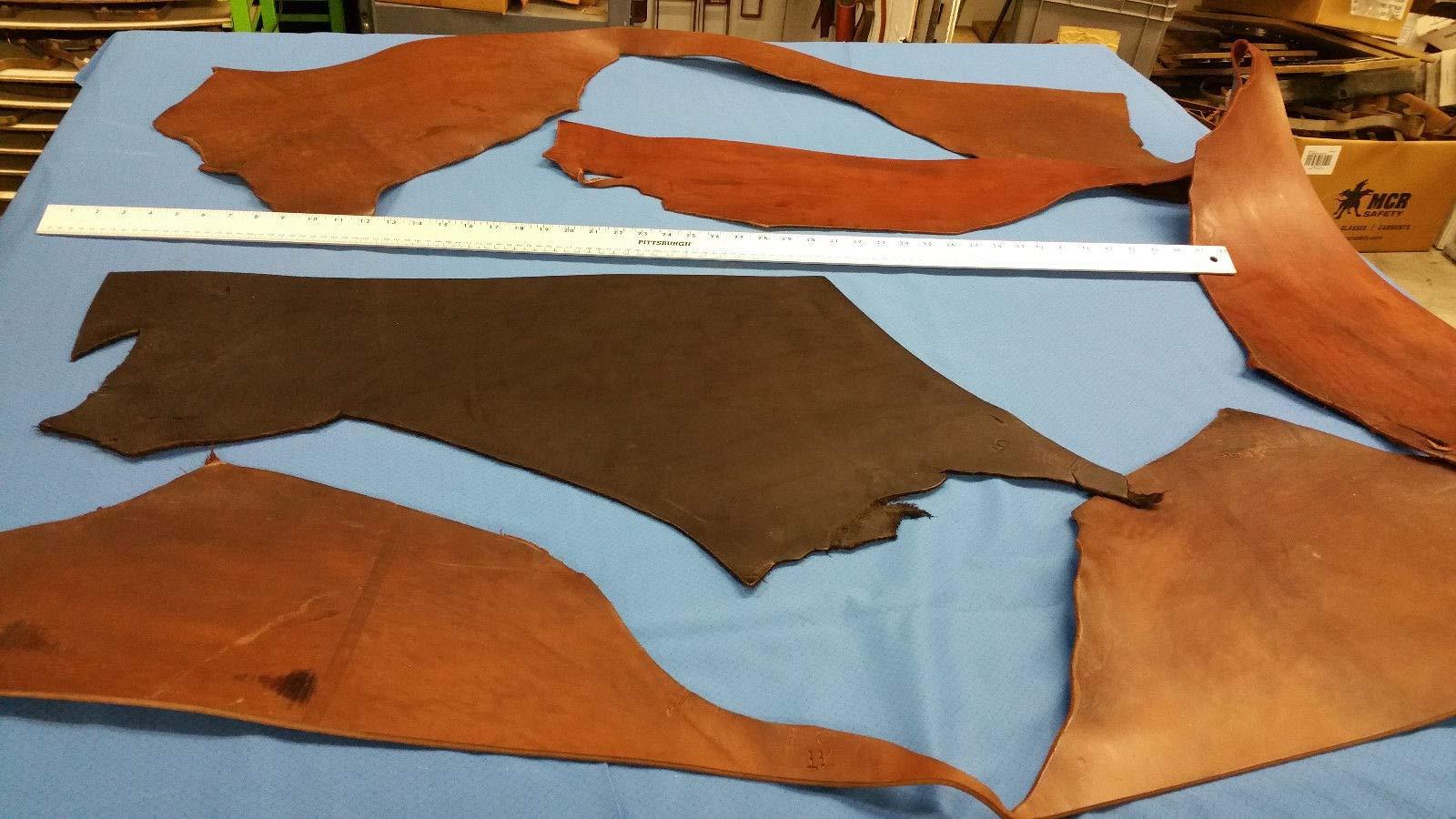 Veg-Tann/Harness/Bridle Full Grain Leather Brown, Bundle #13/10 oz +