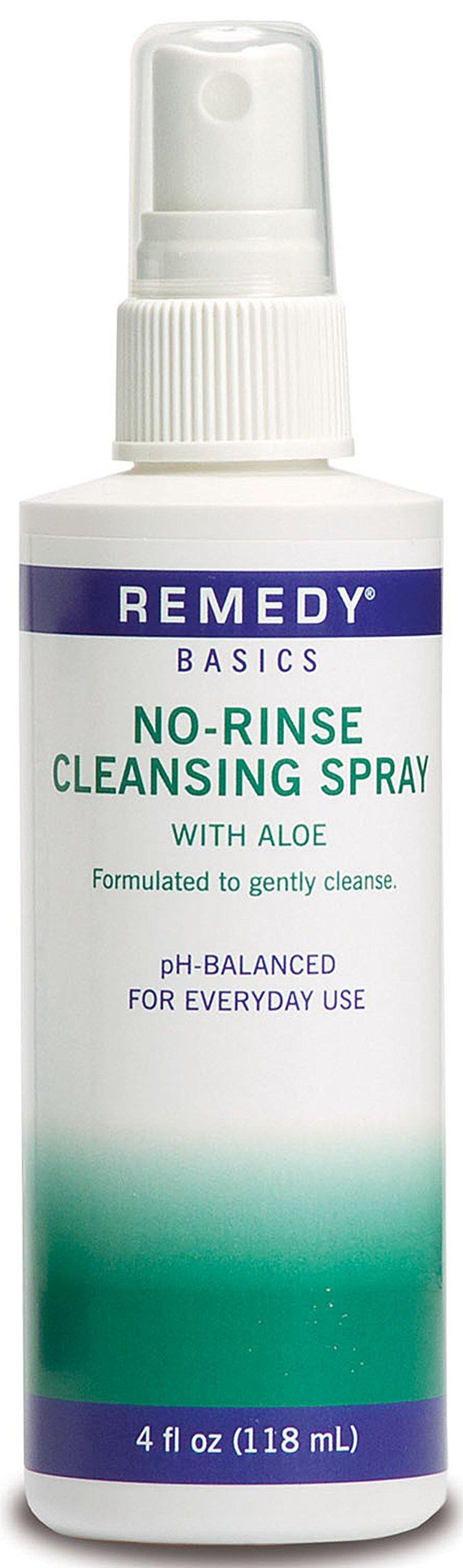 Medline MSC092SCSW04 Remedy Basics No-Rinse Cleansing Spray, 4oz. (Case of 48) by Medline
