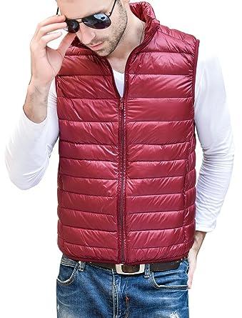 7351803856c4 HENGJIA Men s Lightweight Packable Sleeveless Down Puffer Coat Fall ...