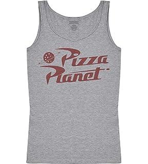 39035ae0ea8043 Disney Women s Toy Story Pizza Planet Logo Tank Top at Amazon ...
