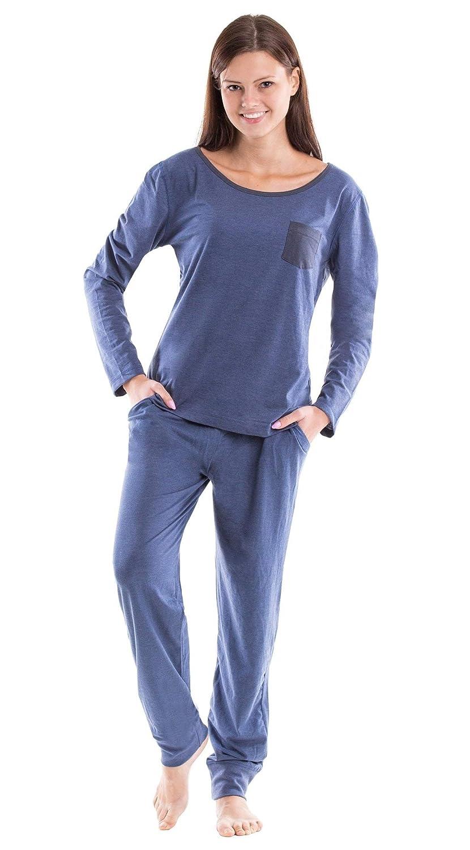 bd6c2769fd77fe Moonline Moderner und Bequemer Damen Pyjama/Shorty / Capri ...