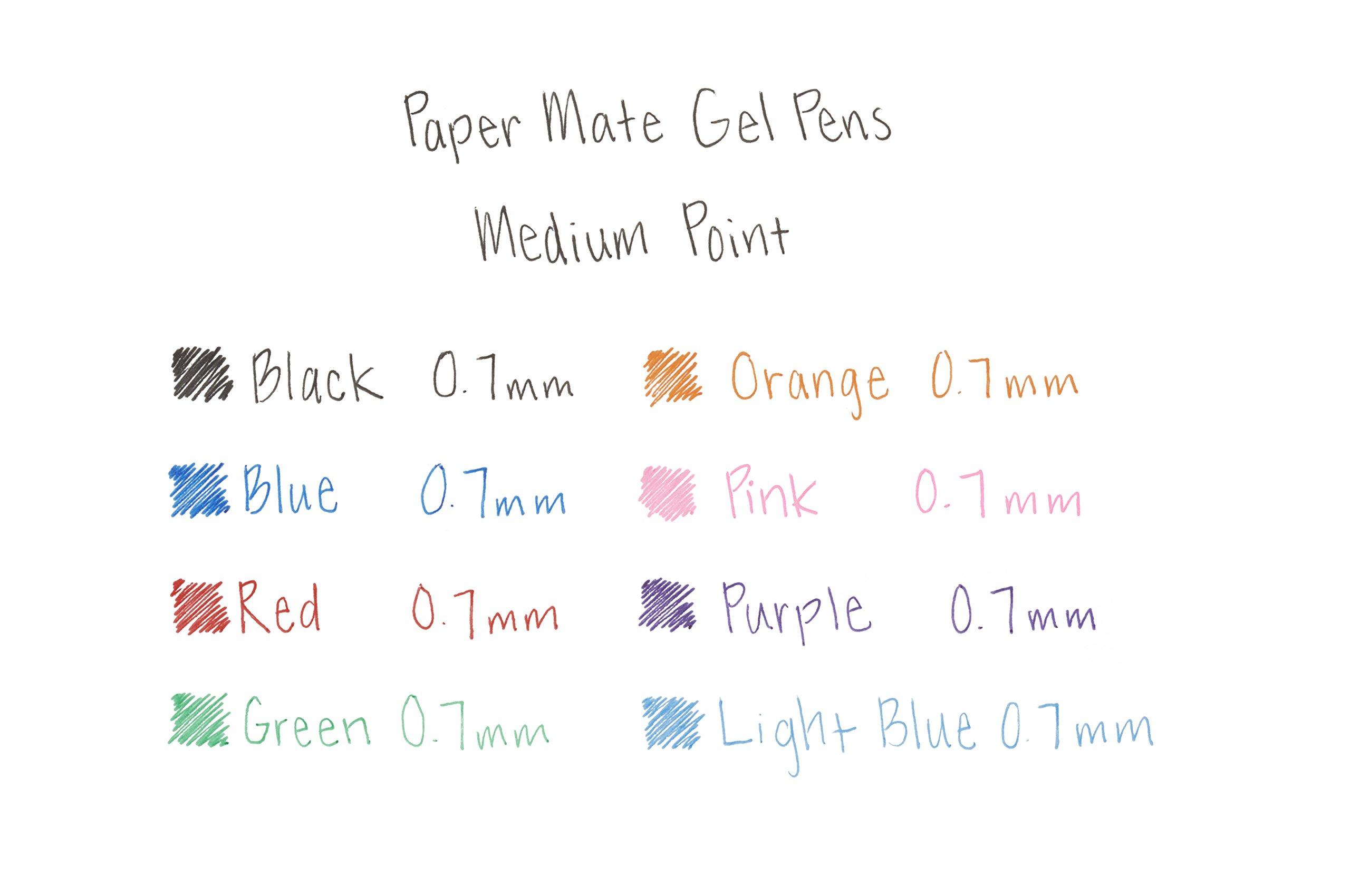 Paper Mate Gel Pens, Medium (0.7mm), Black, 4 Count by Paper Mate (Image #4)