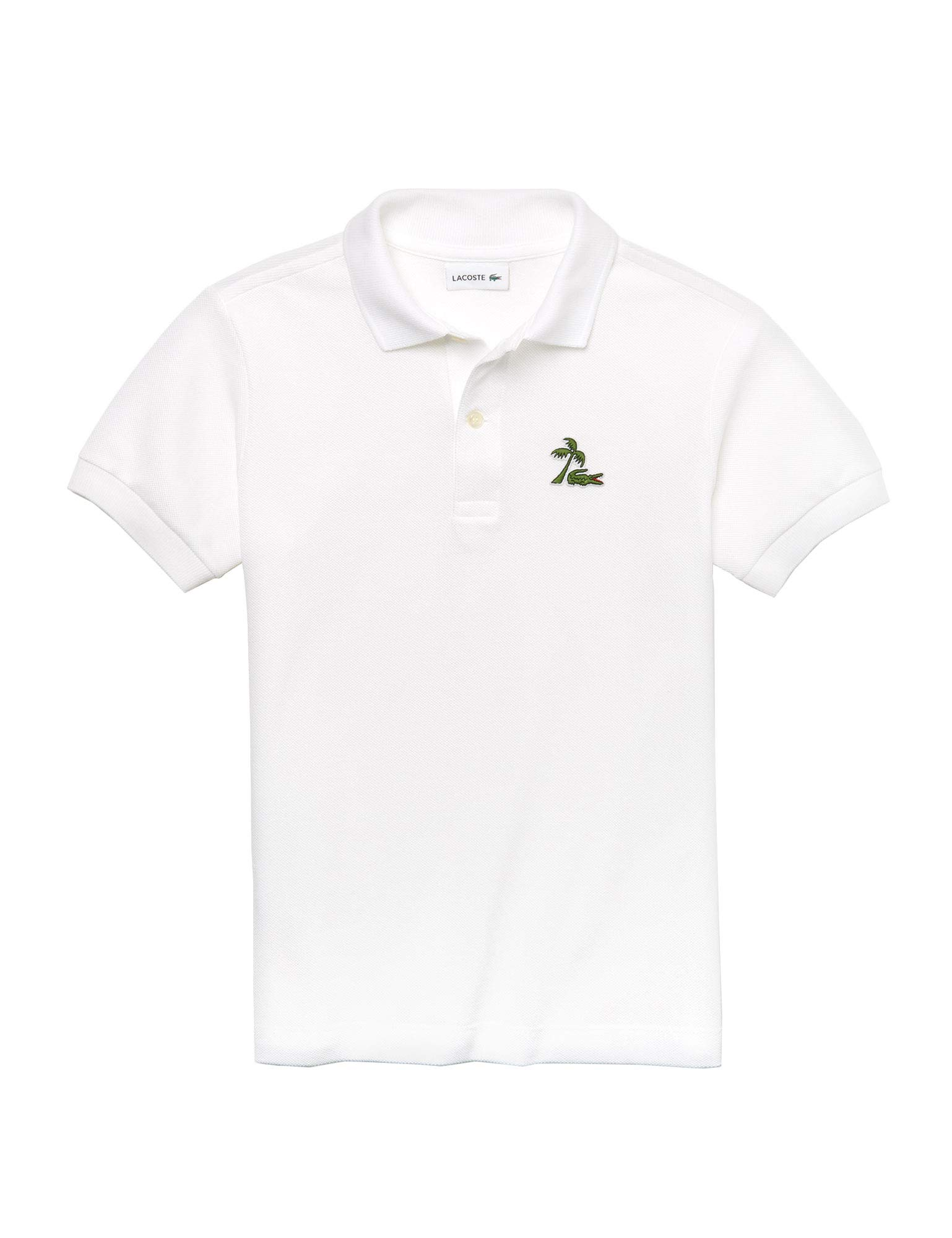 Lacoste Kids Palm Tree Croc Polo T-Shirt White in Size 1 Years (74 cm)