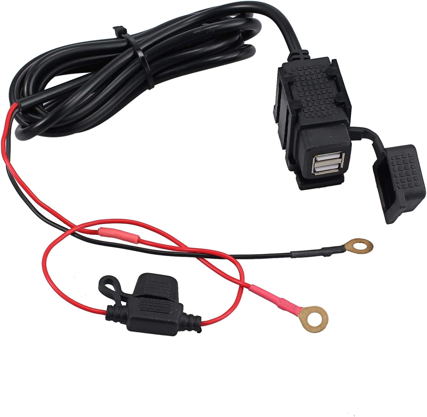 eSynic Waterproof Motorcycle USB Charger Motorbike Phone Adapter 12//24V Input 2.1A //1.0A 5V Output USB Power Supply Port Motorbike Motorcycle Mobile Charger Socket Suitable for Motorbike Motorcycle