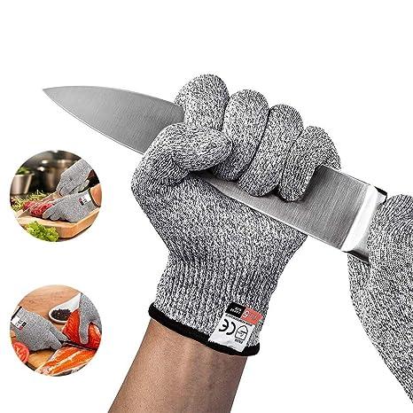 Schnittschutzhandschuhe, Schnittfeste Handschuhe, Arbeitshandschuhe,  Schutzhandschuhe, Schutzstufe 5, Sicherheits Küche und Schnitthandschuhe  für den ...
