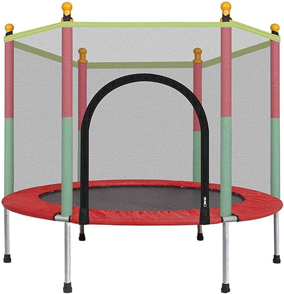 LKFSNGB Mini trampolín para niños, trampolín de jardín con Red de Seguridad - Cubierta Impermeable de PVC, trampolín de Juguete pequeño para Interiores y Exteriores de 140 cm