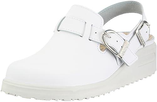 Tec-Pro Tirdu 9101 - Zuecos unisex, color blanco, talla 40 2/3 Berkemann