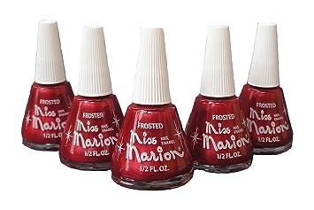 Amazon.com : 5 Bottles Miss Marion Nail Polish 1/2 Oz. Color Garnet ...