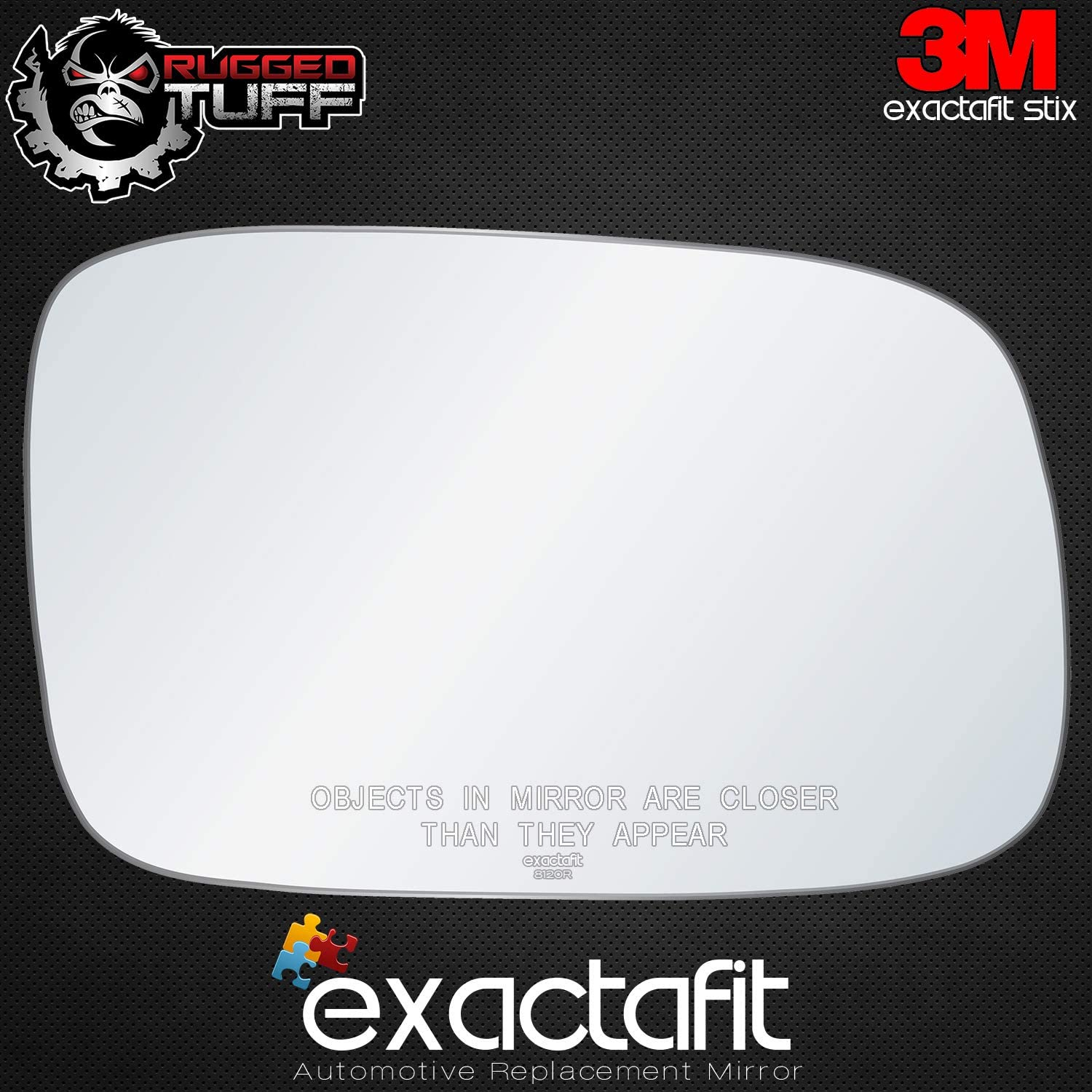exactafit 8120R Replacement Lens Power Side Mirror Glass fits Passenger Right Hand RH for Lexus ES300 ES330 GS300 GS400 GS430 1998-2006 by Rugged TUFF