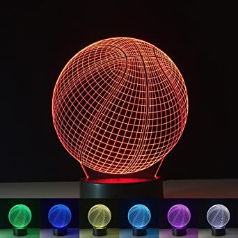 OOFAY Luces Moderna 3D Illusion Baloncesto Lámpara LED 7