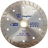 Kingthai ダイヤモンドカッター ウェーブタイプ 125mm 乾式 コンクリート ダイヤモンドブレード レンガ ブロック 切断用 刃 ダイヤモンド カッター 替刃 替え刃 石材用 ダイヤモンドホイール