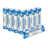 NRGready AA 2100mAh Rechargeable Batteries High Capacity Ni-MH Pre-charged Batteries (8-Pack)