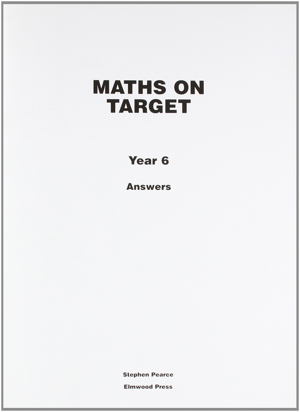 Buy Maths on Target: Answers Year 6 Book Online at Low Prices in ...