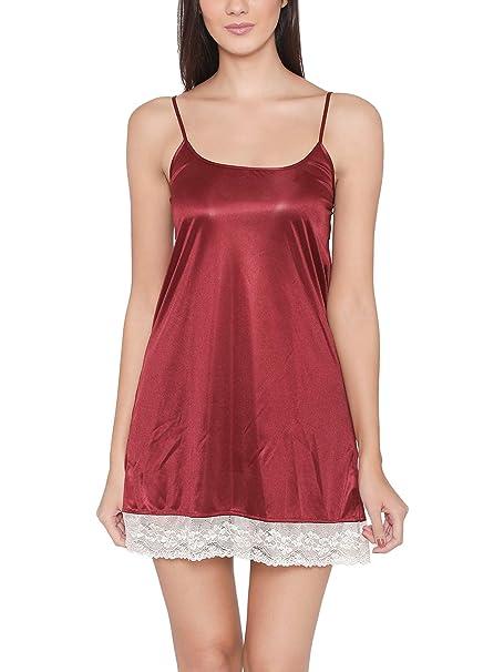 0cbd517ea Clovia Women s Sexy Lacy Babydoll in Maroon  Amazon.in  Clothing ...