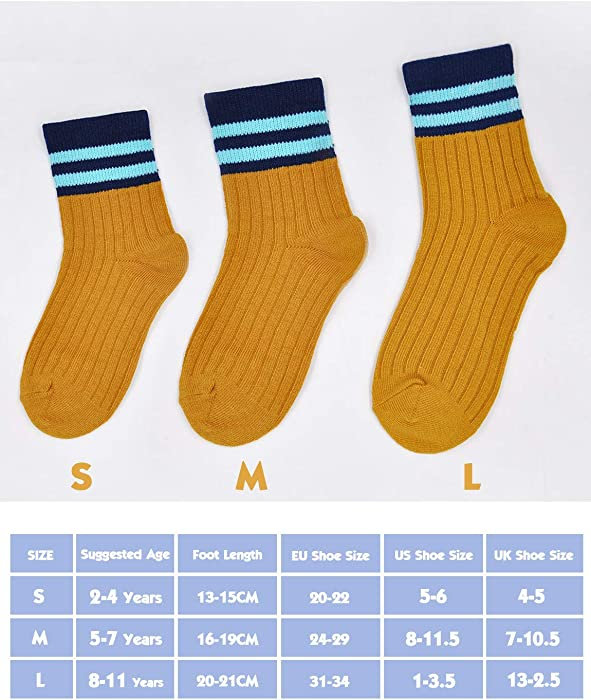 2-11 Years Toddler Boys Cotton Socks Kids Breathable Cute Casual Ankle Socks Back to School Socks 5 pairs