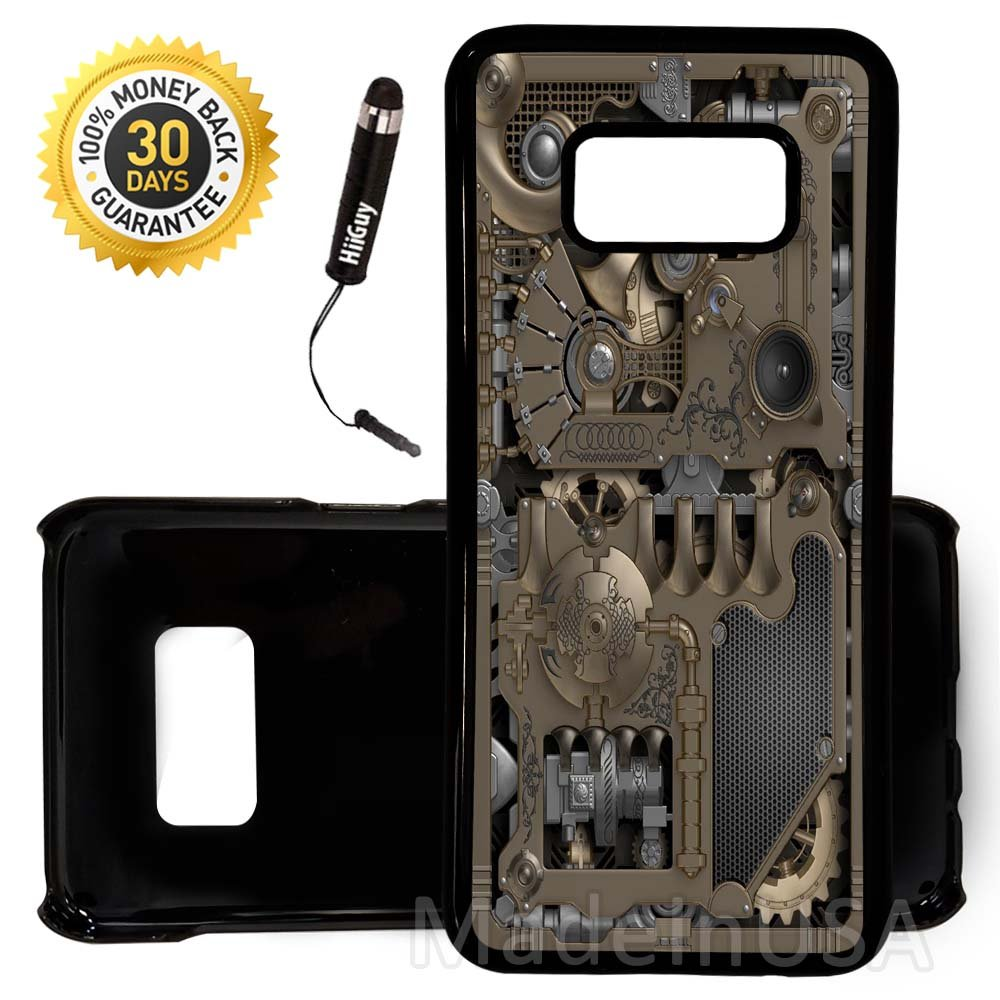 new styles f6c13 78419 Custom Galaxy Note 8 Case (Steampunk Mechanical Gears) Edge-to-Edge Plastic  Black Cover Ultra Slim | Lightweight | Includes Free Mini Stylus Pen by ...