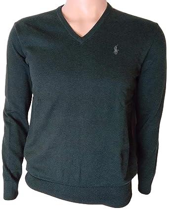 de8606ef Image Unavailable. Image not available for. Color: Polo Ralph Lauren Men's  Pima Cotton V Neck Long Sleeve Sweater ...