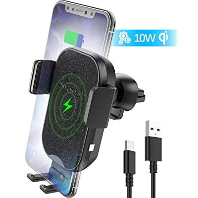 squish Wireless Car Charger, Qi Wireless Charger Car Phone Mount Auto Clamping for Air Vent, 7.5W Fast Charging for Mobile Phone (SQ461): Automotive