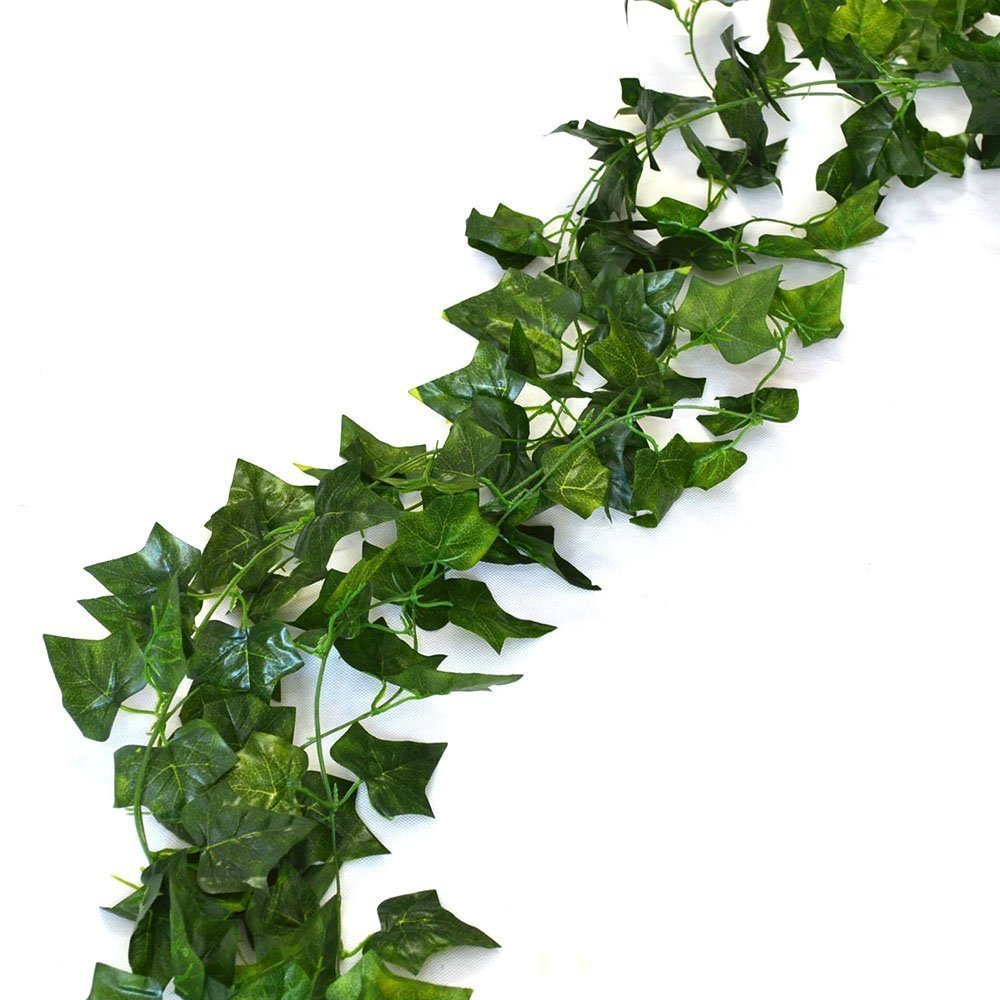 75 feet - 12 English Ivy Silk Greenery Wedding Party Garlands Aketek Aketek-689756