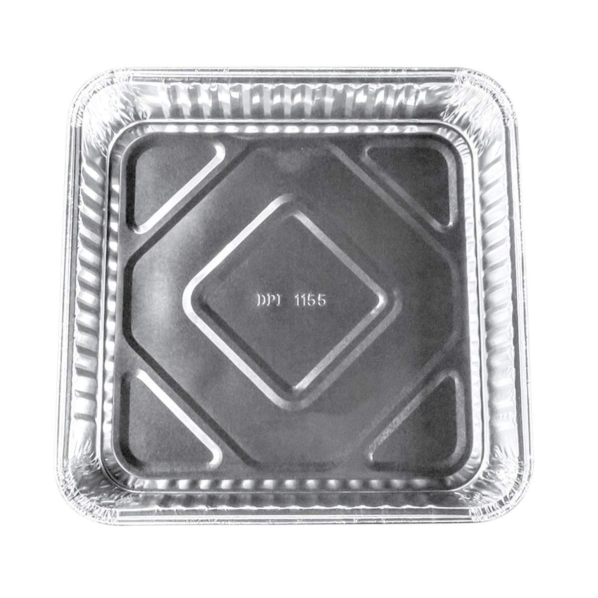 Disposable Aluminum 7-7/8'' x 7-7/8'' Square Cake Pan #1155NL (100) by Durable Packaging