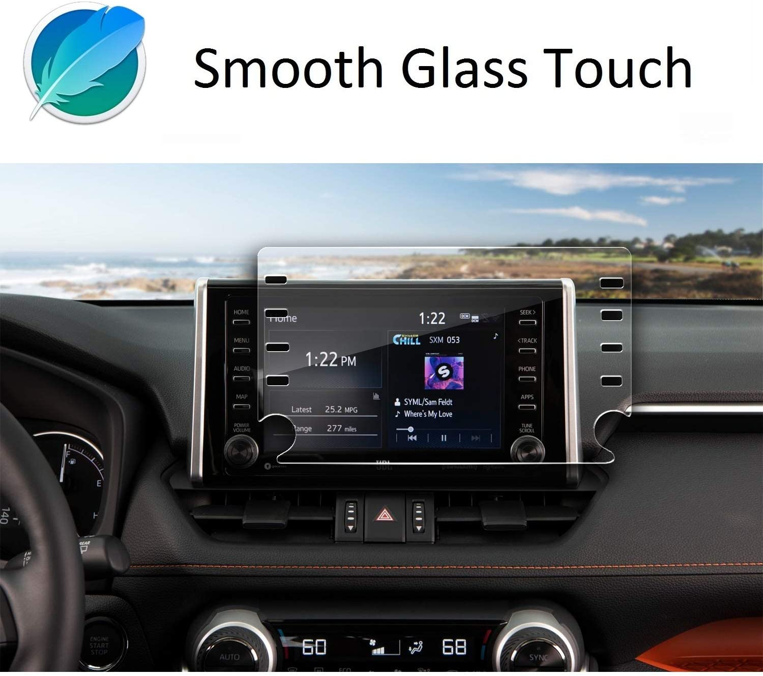Navigation Protection Accessories Premium Tempered Glass ZFM Screen Protector Compatible with 2020 Toyota Corolla 8 Inch Touch Screen,Anti Glare Scratch,Shock-Resistant