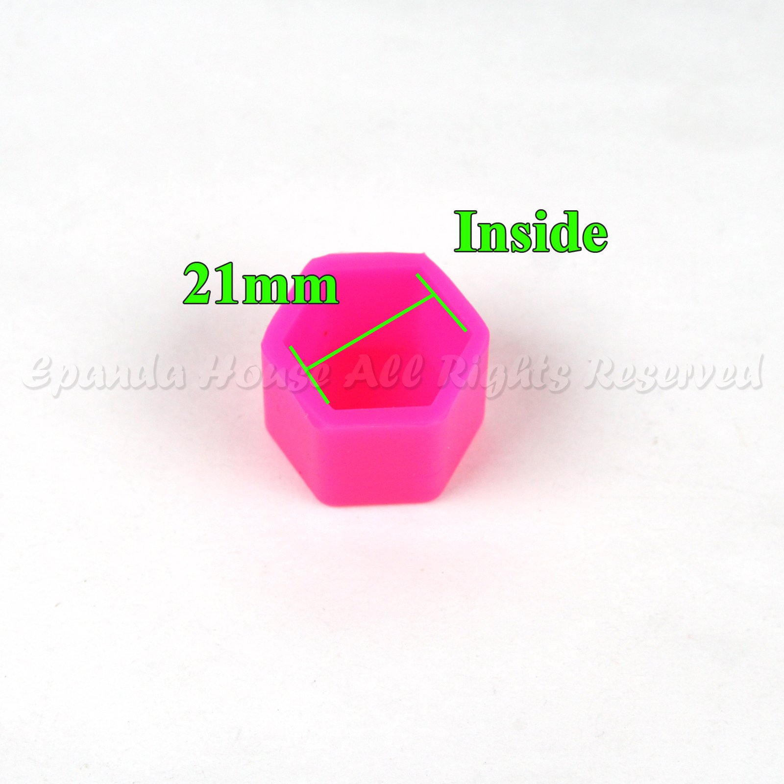 21mm 20X Glow In The Dark Blacklight Wheel Rim Lug Nuts Covers Cars/Bikes Pink by EpandaHouse (Image #2)