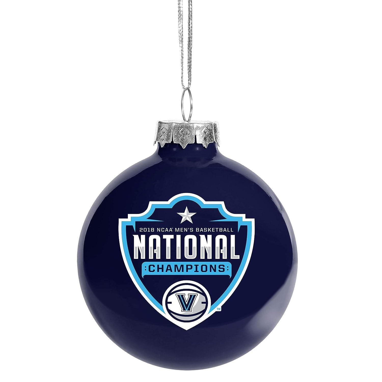 FOCO Forever Collectibles NCAA Villanova Wildcats 2018 Men's Basketball National Championship Glass Ball Christmas Tree Ornament 2 5 8