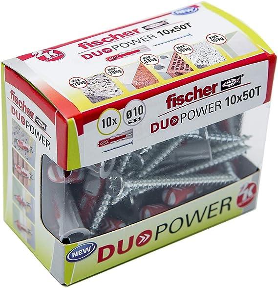 Fischer 536392- Taco Duopower 10X50 T, caja brico con 10 unidades ...