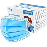 BLScode Disposable Kids Face Protective Masks, 3-Layer Facial Cover Masks with Elastic Ear Loops, Comfortable Universal…