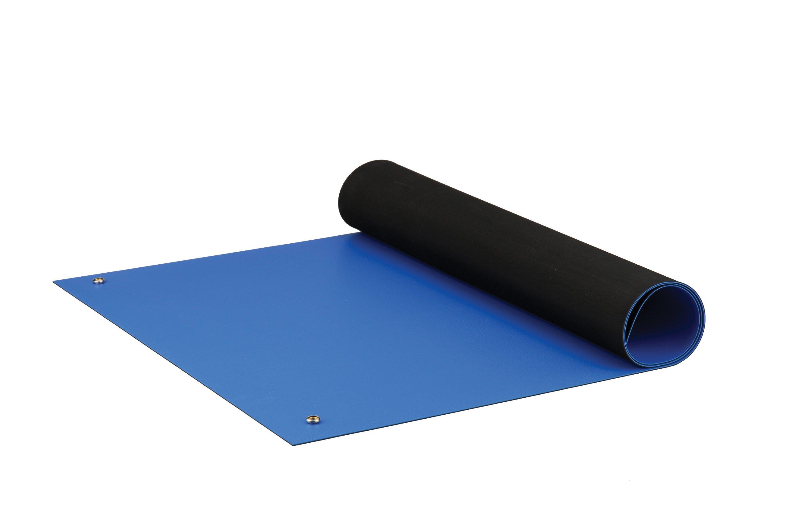 ACL Staticide 8285RBM2436 Dualmat ESD Table Mat, 24'' Length x 36'' Width, Royal Blue