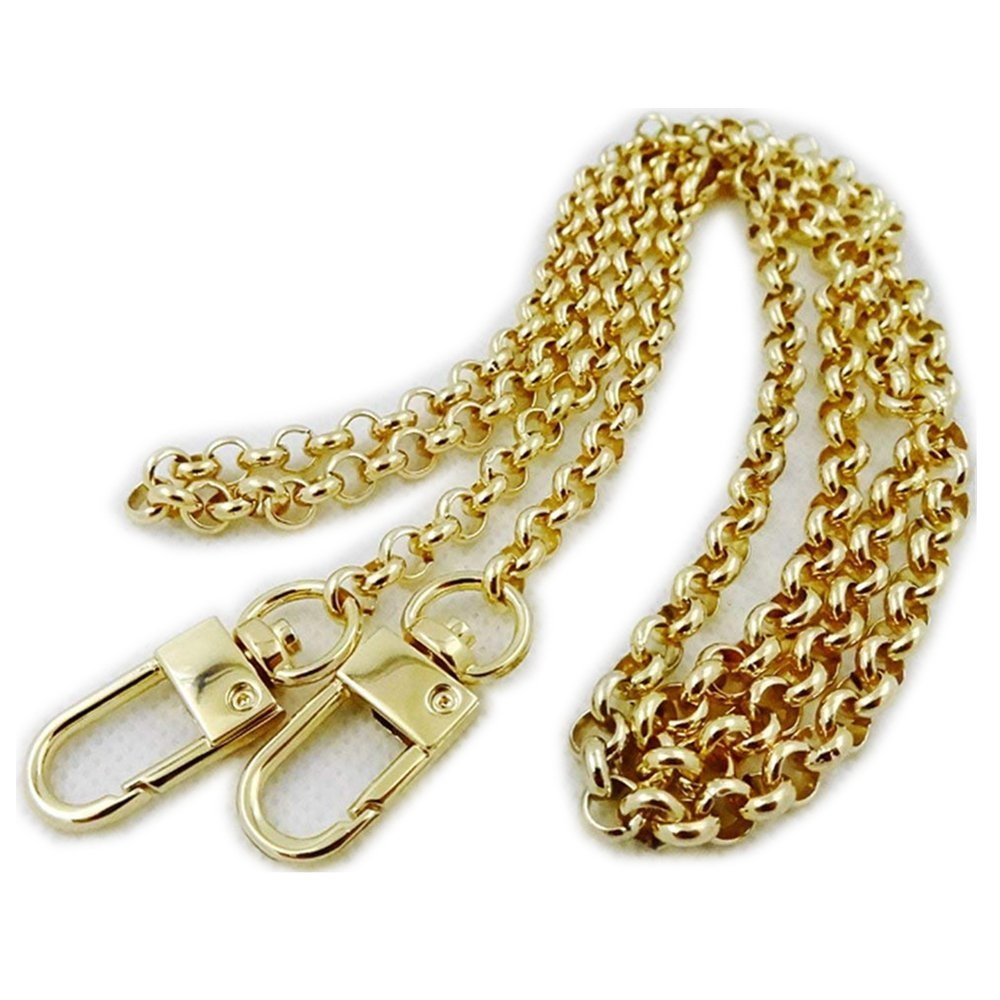 Wide 10mm O TYP Golden Chain for Women Bags Replacement Purse Chain/Chain Strap/Chain Purse Strap/Purse Chain Straps DIY (Length 47 inch)