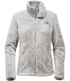 North face women's osito jacket metallic silver
